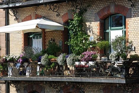 Balkon an der Großweidenmühle