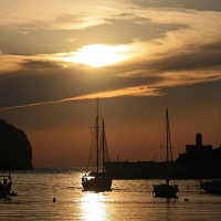 4.6.2013 - Sonnenuntergang in Puerto de Sóller 1