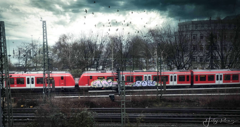 S-Bahn bei der Einfahrt in den Hauptbahnhof